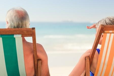 Elderly couple at the beach Stock Photo - 10218484