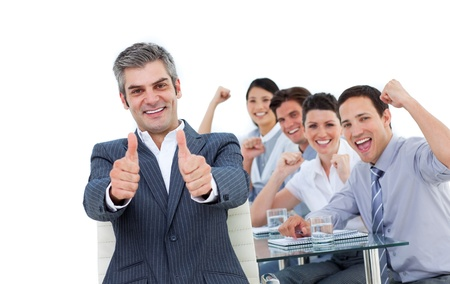 Multi-ethnic business partners working together Stock Photo - 10218021