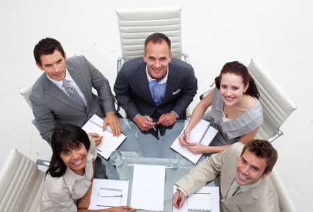Business team working together in an office Stock Photo