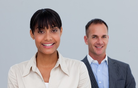 Afro-American businesswoman with her manager Stock Photo - 10218834