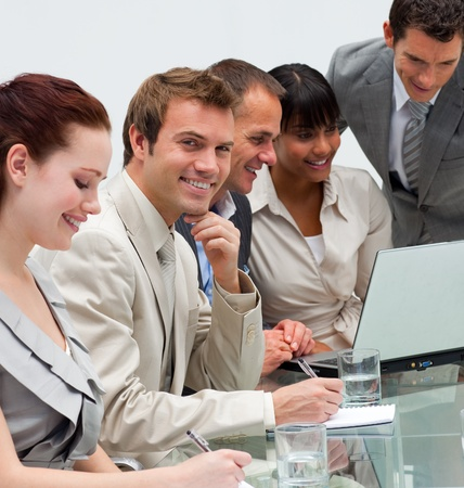 Young businessman working with his team Stock Photo - 10216046