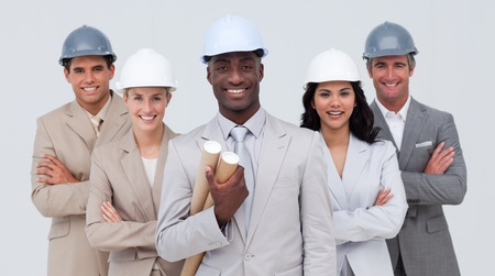 Architectural team smiling at the camera Stock Photo - 10218714