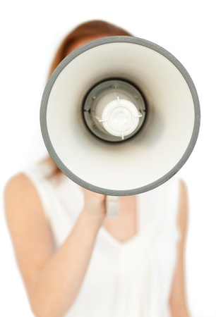 Focus on a megaphone  Stock Photo - 10216109