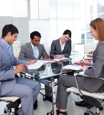 new strategy: Business people discussing a new strategy Stock Photo