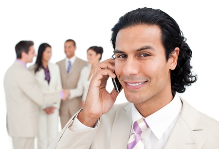 Portrait of a beautiful business team is working together Stock Photo - 10218762