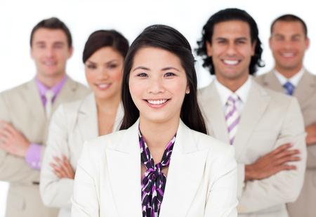 Presentation of an international business team Stock Photo - 10218775