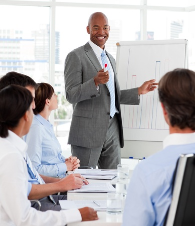 Diverse business people studying a new business plan Stock Photo - 10218604
