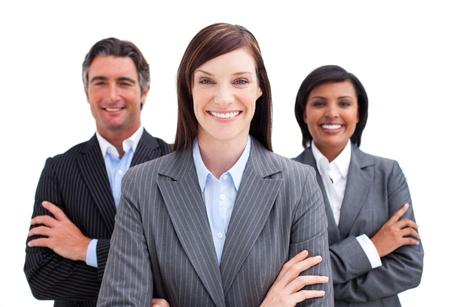 profesionistas: Equipo de negocios afortunado