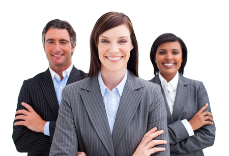 professionals: Fortunate business team Stock Photo