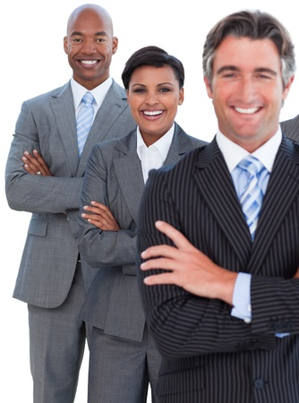 Portrait of enthusiastic business team Stock Photo - 10256851