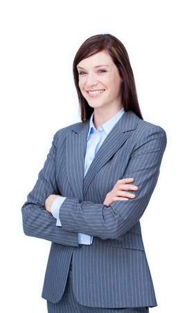 Portrait of a young businesswoman photo