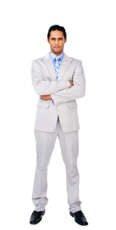 Serious businessman with folded arms  photo