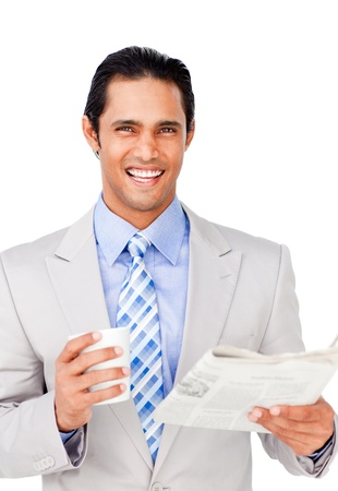 asian business man: Portrait of a successful businessman punching the air