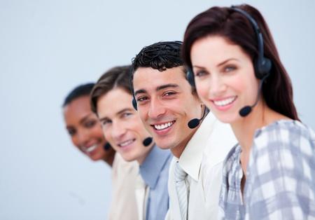 computer service: Zuversichtlich Kundendienstmitarbeiter Lizenzfreie Bilder