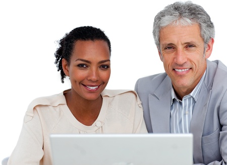 Diverse business people working at a computer Stock Photo - 10258719