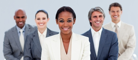 ethnic diversity: Portrait of a competitive business team