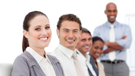 Confident international business people at a presentation Stock Photo - 10244122