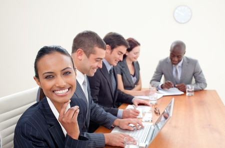 Indian businesswoman in a meeting Stock Photo - 10257334