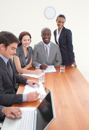 International business team working together Stock Photo - 10258428