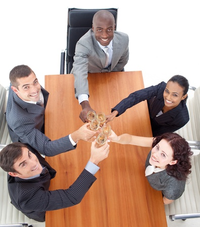 Business people celebrating a success with champagne Stock Photo - 10240476