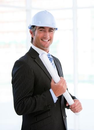 originator: Portrait of an assertive male architect Stock Photo