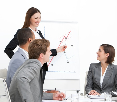 training consultant: Confident woman doing a presentation
