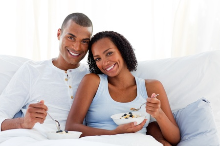 Romantic couple having breakfast  photo