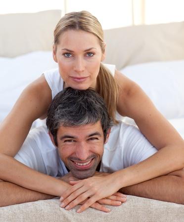 Close-up of a romantic couple  photo