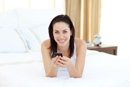 Pretty woman talking on phone photo