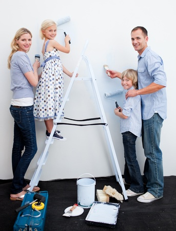 Family Painting At Home photo