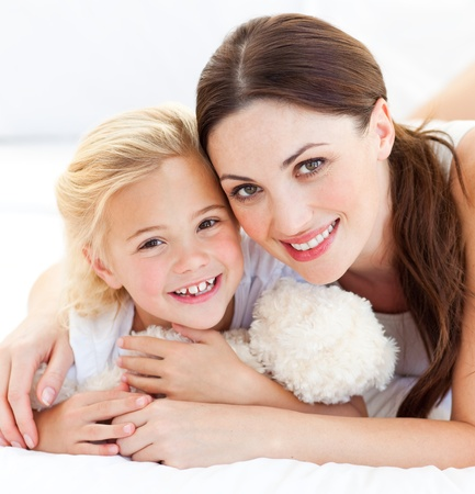Portrait of a joyful mother and her daughter Stock Photo - 10232377