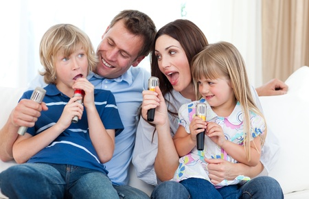 Happy parents and children having fun together Stock Photo - 10259027
