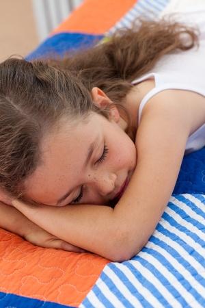 Beautiful little girl sleeping photo
