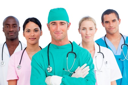 Portrait of multi-ethnic medical team Stock Photo - 10256662
