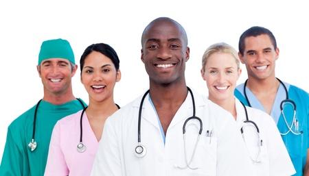 personal medico: Retrato de personal m�dico multi�tnica
