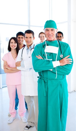 A diverse medical group standing in front of the camera Stock Photo - 10243905