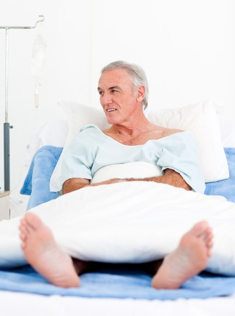 more mature: Portrait of a senior man at the hospital
