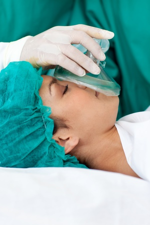 obstetrician: Female patient receiving anaesthetic