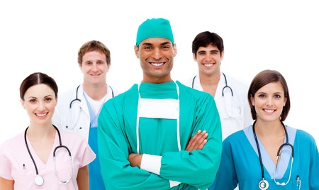 Doctors against a white background Stock Photo - 10243910