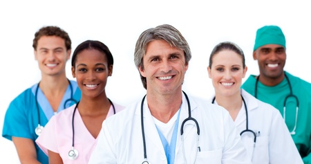 medical team: Group of medical surgeons