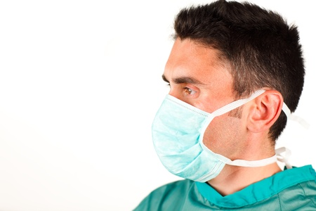 Surgeon profile with a mask Stock Photo - 10255579
