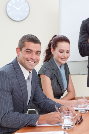 Busines people during a meeting in an office photo
