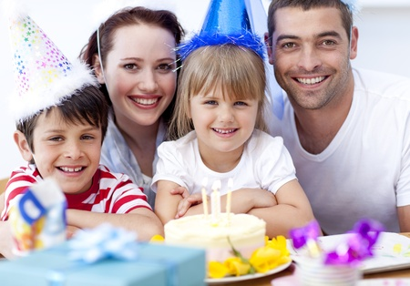 Happy daughtrer on her birthday's day Stock Photo - 10241151