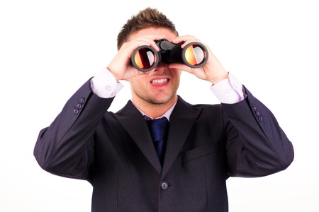 Man looking through binoculars  photo