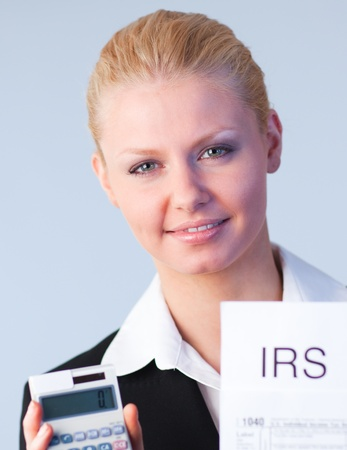 filling in: Filling in tax returns Stock Photo