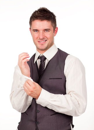 Young Businessman Dressing photo