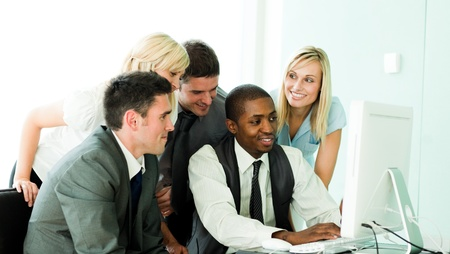 International business team working in office together Stock Photo - 10256807