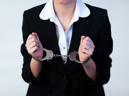 Business Woman in Handcuffs Stock Photo - 10245014