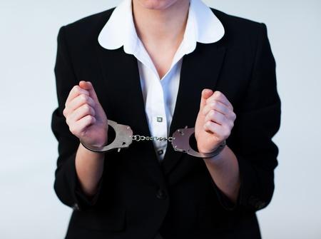 handcuffs female: Business Woman in Handcuffs