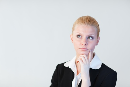 Business woman contemplating  photo